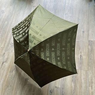 モスキーノ(MOSCHINO)の【AVOCADO様専用】MOSCHINO モスキーノ 折り畳み傘 カーキ ハート(傘)