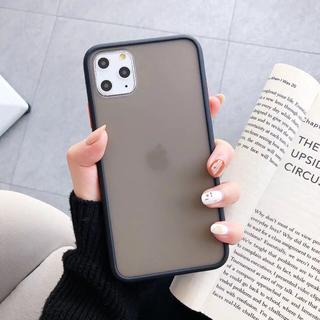 iPhone 11Pro ケース スマホケース シンプル ブラック半透明(iPhoneケース)