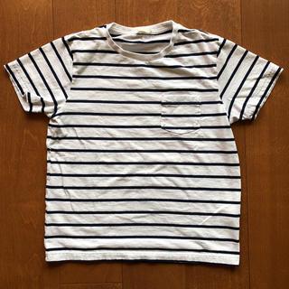 ジーユー(GU)のキッズ ボーダー Tシャツ(Tシャツ/カットソー)