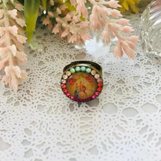 ミハエルネグリン 円形レトロ柄ピクチャーリング(リング(指輪))