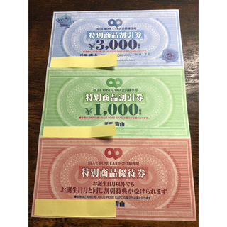 アオヤマ(青山)の洋服の青山 BLUE ROSE CARD 会員様専用割引券(ショッピング)
