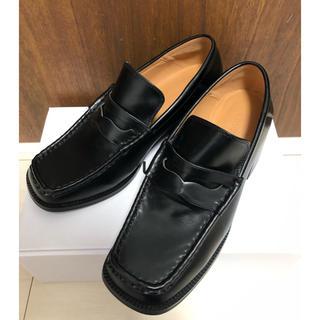 マウジー(moussy)の新品未使用 moussy スクエアトゥーヒールローファー(ローファー/革靴)