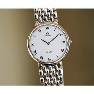 オメガ(OMEGA)の美品 オメガ デビル シルバー ホワイト ローマン メンズ Omega(腕時計(アナログ))