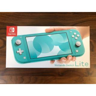 ニンテンドウ(任天堂)の即発送可 新品未開封 Nintendo Switch lite ターコイズ(家庭用ゲーム機本体)