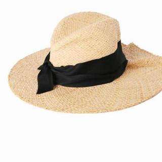 イエナ(IENA)のLOLA HATS クロ(麦わら帽子/ストローハット)