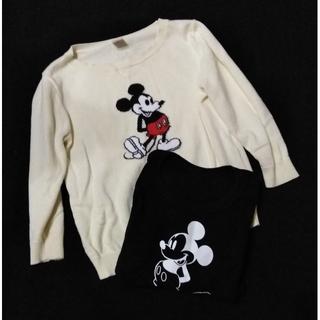 ディズニー(Disney)の【匿名配送】Disney ミッキー トレーナー&肌着(100サイズ)(ニット)