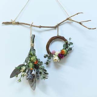 flower tree garland -vivid-(ドライフラワー)