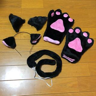 【コスプレ】黒猫 コスプレ 5点SET(小道具)