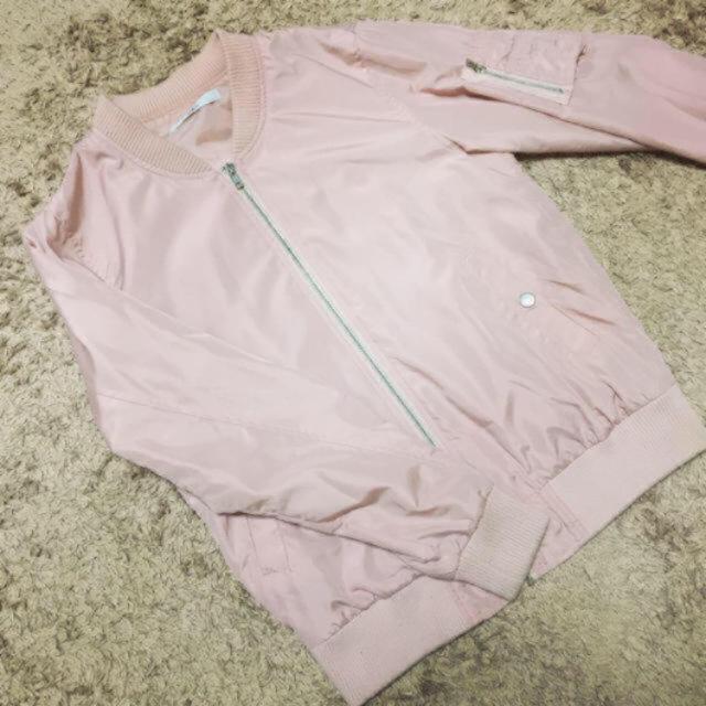 GRL(グレイル)のGRL*MA-1ブルゾン*ピンク系 レディースのジャケット/アウター(ブルゾン)の商品写真