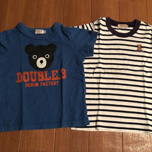 DOUBLE.B(ダブルビー)の【最終値下げ】ミキハウス Tシャツ4枚セット♪100cm キッズ/ベビー/マタニティのキッズ服男の子用(90cm~)(その他)の商品写真
