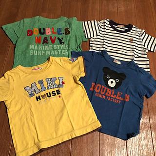 DOUBLE.B - 【最終値下げ】ミキハウス Tシャツ4枚セット♪100cm
