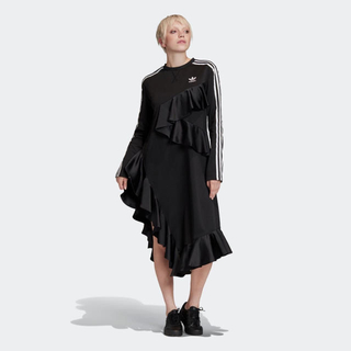 アディダス(adidas)の【新品未使用】adidas アシンメトリー ワンピース ドレス Mサイズ(ロングワンピース/マキシワンピース)