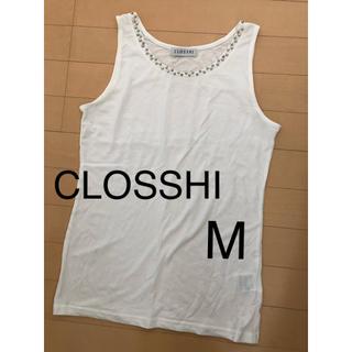 シマムラ(しまむら)のクロッシィ CLOSSHI  タンクトップ M インナー 白 ホワイト(タンクトップ)