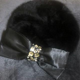 【人気商品】マーズ ベレー帽 リボン ブラック