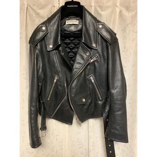 Balenciaga - 【BALENCIAGA】swing leather jacket