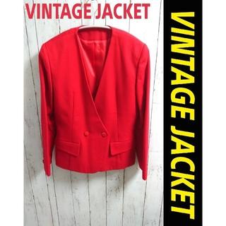 アートコレクション(Art Collection)の一点物!VINTAGE JACKET ビンテージ ノーカラージャケットジャケット(ノーカラージャケット)