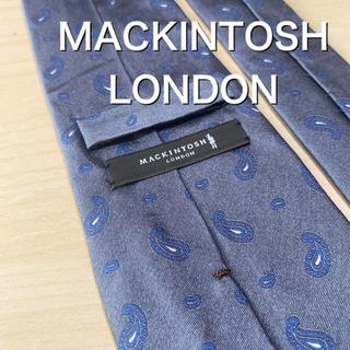 マッキントッシュ(MACKINTOSH)の【新品未使用】MACKINTOSH LONDON グレー ペイズリー ネクタイ(ネクタイ)