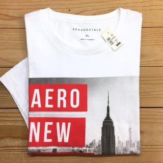 新品【メンズXS】★エアロポステール★グラフィックプリント半袖Tシャツ/白