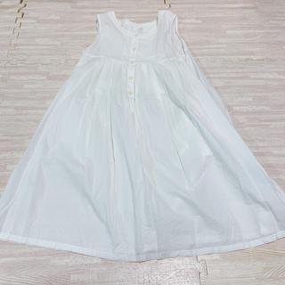 ムジルシリョウヒン(MUJI (無印良品))のマタニティ、授乳服 Aラインワンピース ホワイト(マタニティワンピース)
