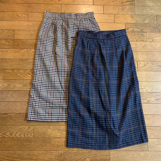GU チェックタイトスカート 2枚セット Mサイズ