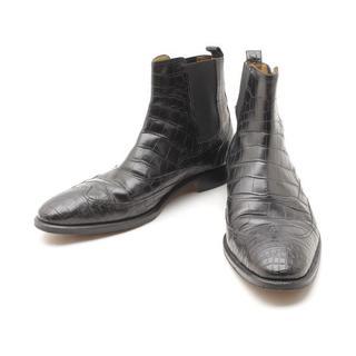 エルメス(Hermes)のHERMESエルメスウイングチップサイドゴアクロコダイルレザー皮革ブーツシューズ(ブーツ)