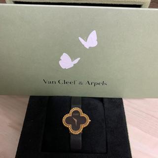 ヴァンクリーフアンドアーペル(Van Cleef & Arpels)のぽてち様専用 ヴァンクリーフ & アーペル アルハンブラ  オニキス 時計(腕時計)