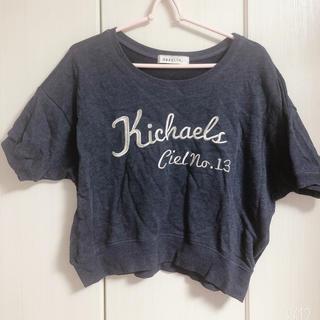 ダズリン(dazzlin)のdazzlin ネイビー ロゴTシャツ(Tシャツ/カットソー(半袖/袖なし))