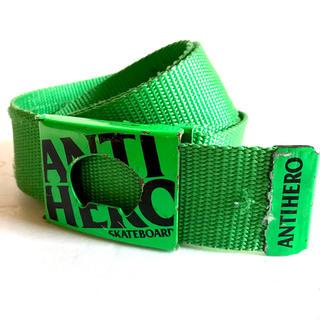 アンチヒーロー(ANTIHERO)のANTI HERO ナイロン ベルト 蛍光 グリーン(ベルト)