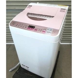 SHARP - 【送料無料・設置無料】洗濯機 SHARP ES-TX5A-P