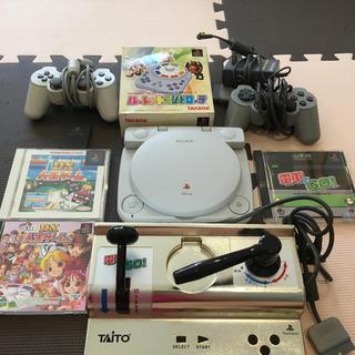 プレイステーション(PlayStation)のPlayStation ワン 希少なGOLDマスコン電車でGoなどセット(家庭用ゲーム機本体)