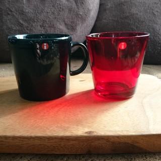 イッタラ(iittala)のイッタラ カルティオ レッド ティーマ ブラック タンブラー マグカップ(グラス/カップ)