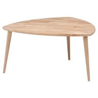北欧風 トライアングルテーブル/サイドテーブル 【幅90cm】 木製 (ローテーブル)