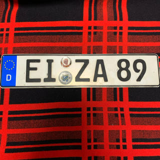 ビーエムダブリュー(BMW)の89 本物 ユーロナンバープレート ドイツ BMW ベンツ アウディポルシェ(車外アクセサリ)