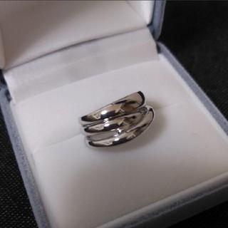 プラチナ900  3連風ピンキーリング  4号サイズ(リング(指輪))