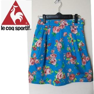ルコックスポルティフ(le coq sportif)の【特価】ル・コック ゴルフ⭐️花柄スカート⭐️(ひざ丈スカート)