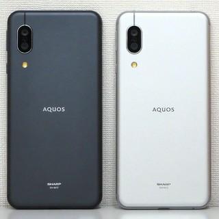 アクオス(AQUOS)の2台セット AQUOS sense3 SH-M12 Black & Silver(スマートフォン本体)