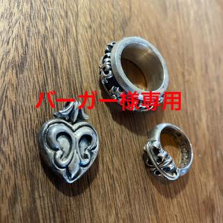 エーアンドジー(A&G)のA&G リング チャーム/ネックレス セット シルバー(リング(指輪))