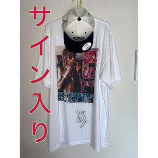 アヴァランチ(AVALANCHE)のFLY BOY RECORDS サイン入り Tシャツ キャップ(Tシャツ/カットソー(半袖/袖なし))