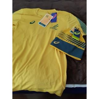 アシックス(asics)の新品ワラビーズ シャツ、ニット帽 ラグビー オーストラリア(ラグビー)
