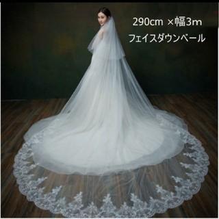 ウエディングベール3m(ヘッドドレス/ドレス)