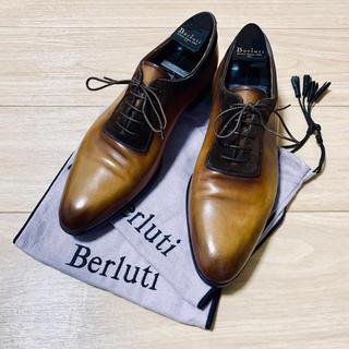 Berluti - ベルルッティ パティーヌ ビジネスシューズ スエード ホールカット 革靴 7.5
