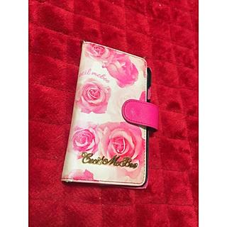 セシルマクビー(CECIL McBEE)のCECILピンク花柄iPhone6sカバー(iPhoneケース)