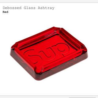 シュプリーム(Supreme)の新品 赤 supreme Debossed Glass Ashtray(灰皿)