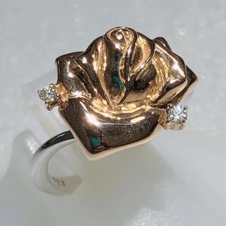 ☆薔薇のリング☆ k18pg k18wg ピンク ホワイト ダイヤモンドリング(リング(指輪))