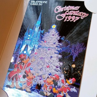 ディズニー(Disney)の東京ディズニーランド/クリスマステレカ50度数(その他)