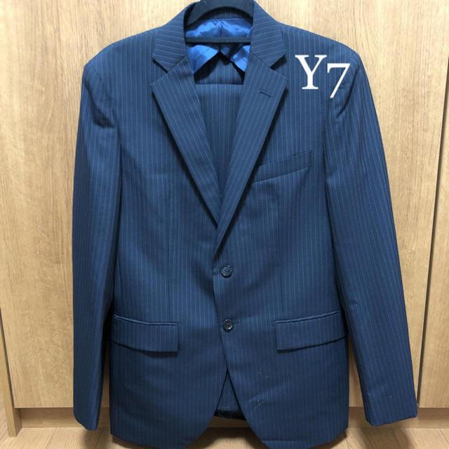 ORIHICA(オリヒカ)の【新品未使用サンプル品】オリヒカ メンズ ウール混 スーツ Y7 ネイビー 紺 メンズのスーツ(セットアップ)の商品写真