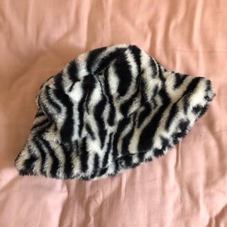 ウィゴー(WEGO)のゼブラ ファー帽子(その他)