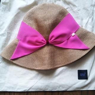 トゥモローランド(TOMORROWLAND)の美品 アシーナニューヨーク 帽子(麦わら帽子/ストローハット)