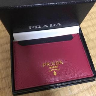 プラダ(PRADA)の新品未使用 PRADA パスケース ピンク 濃ピンク プラダ(パスケース/IDカードホルダー)