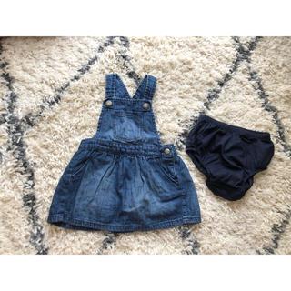 babyGAP - デニム ジャンパースカート